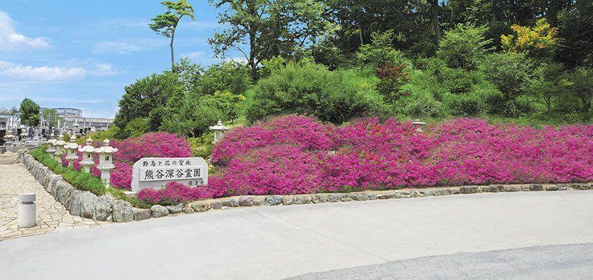 熊谷深谷霊園・龍泉寺 墓地入口