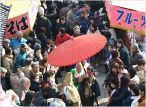 熊谷観音祈願大祭・だるま市 毎年一月の成人の日(第二月曜・祝日)