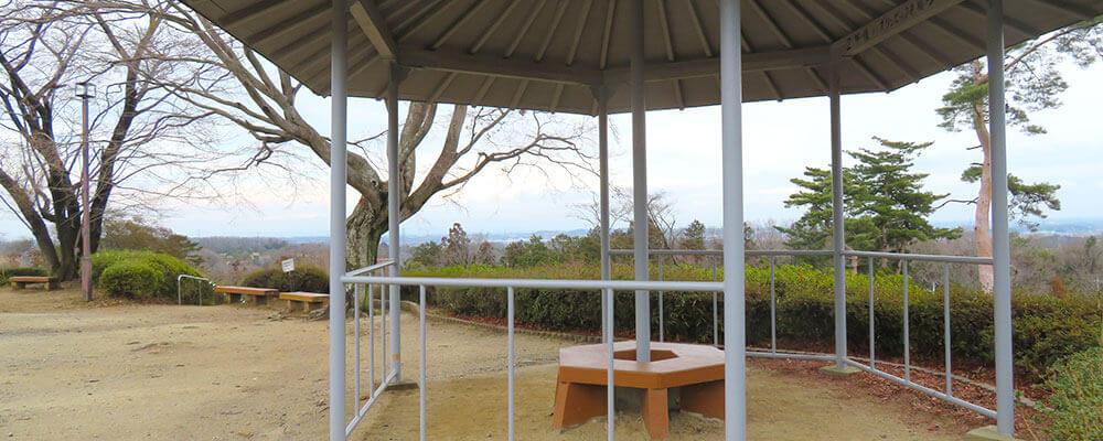 歩きやすい階段や遊歩道が整備された「物見山公園」