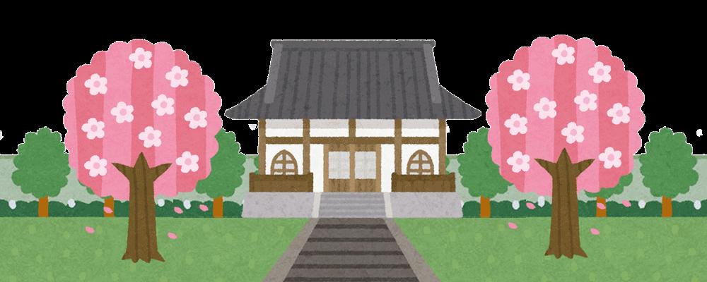 桜の木の下に眠ることができるお寺